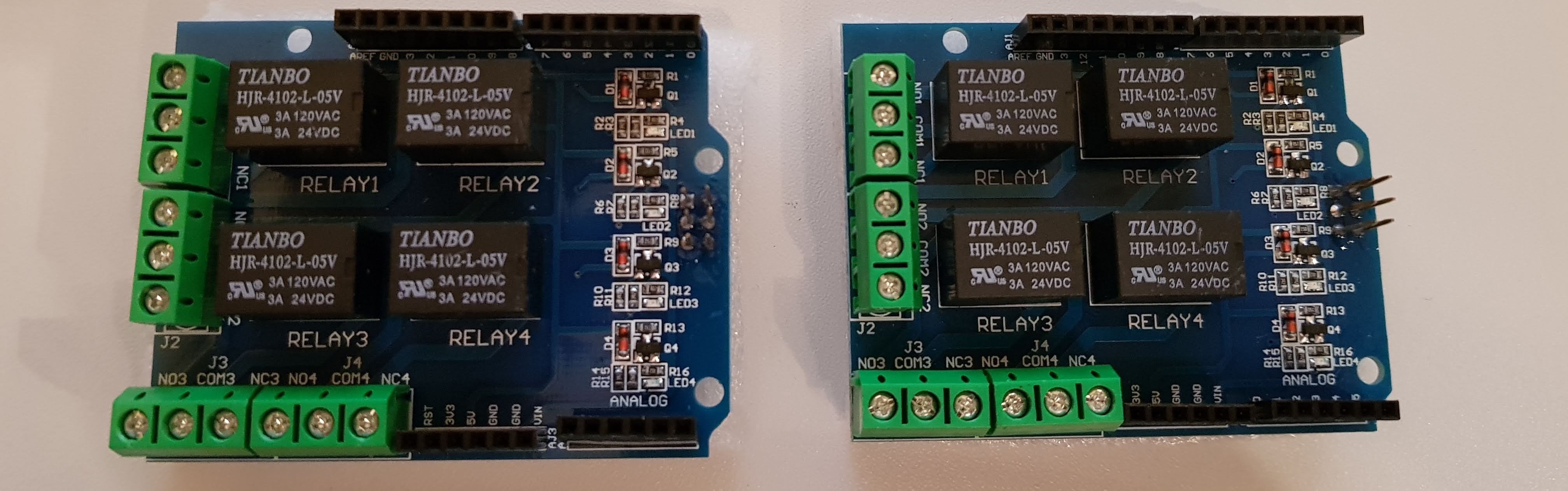 Arduino 4 Relay Zusatzplatine Banner