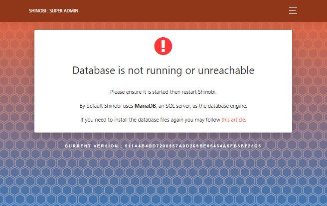 Browser Nach Login, Datenbank läuft nicht.