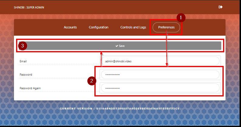 Shinobi Browser - Superuser Passwort ändern