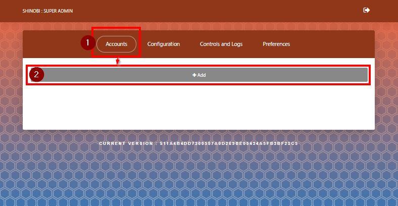 Shinobi - Neuer Benutzer, Erstellung starten