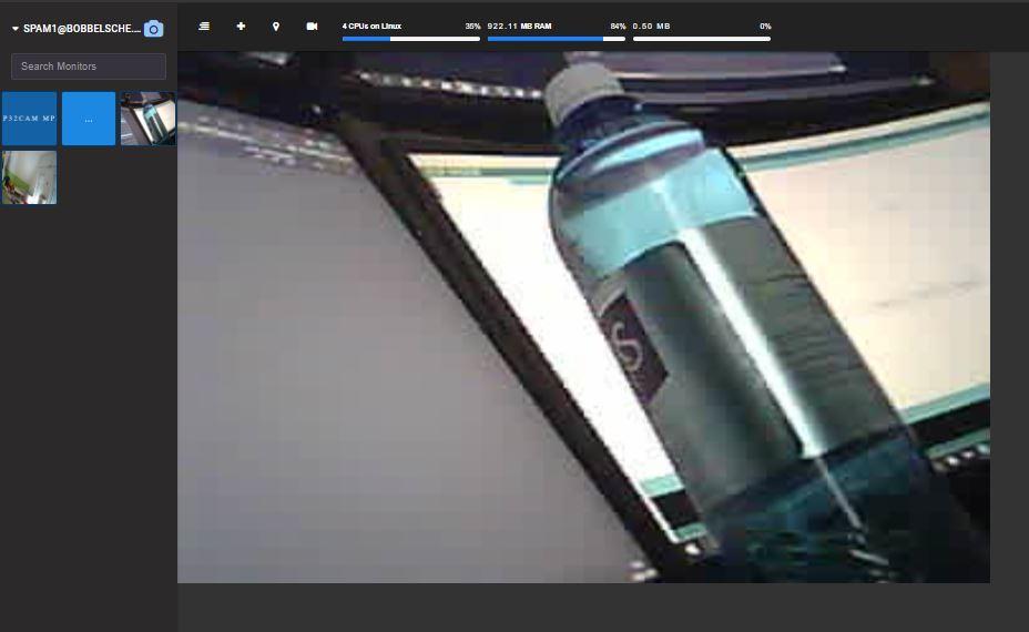 Shinobi ESP32Cam MJPEG Erster Blick durch die Kamera