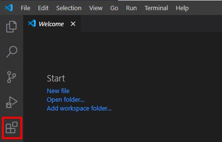 VS Extension Manager Starten