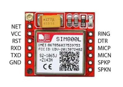 Sim800L Modul Quelle: https://einstronic.com/product/sim800l-gprs-gsm-network-module/